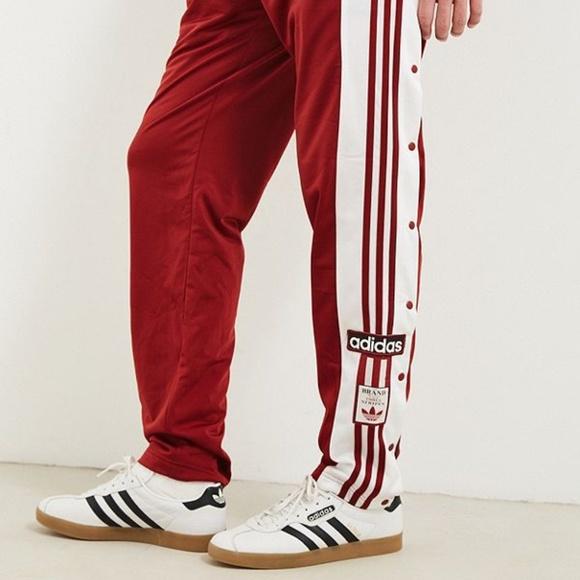 Men's Adidas Originals Snap Track Pants Size L NWT